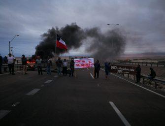 Pescadores artesanales participaron de intensas protestas en diversas caletas del norte y sur del país